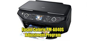Epson Colorio PM-A840S Adjustment Program ( Resetter )