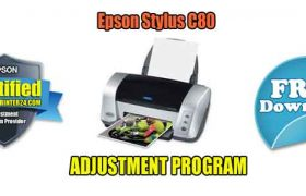 Epson Stylus C80 Adjustment Program