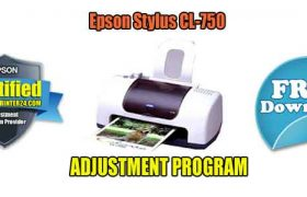 Epson Stylus CL-750 Adjustment Program