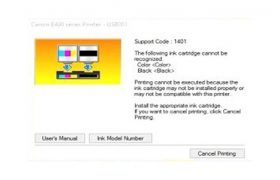 How to reset fix ink cartridges is not recognized