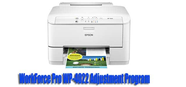 WorkForce Pro WP-4022 Adjustment Program