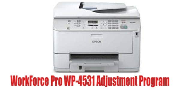 WorkForce Pro WP-4531 Adjustment Program