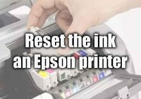 reset the ink on an Epson printer